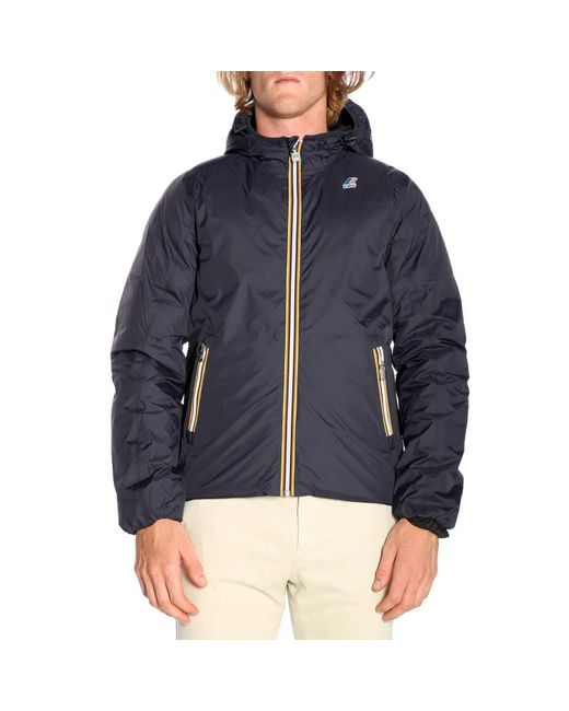 K-Way - Blue Jacket Men for Men - Lyst
