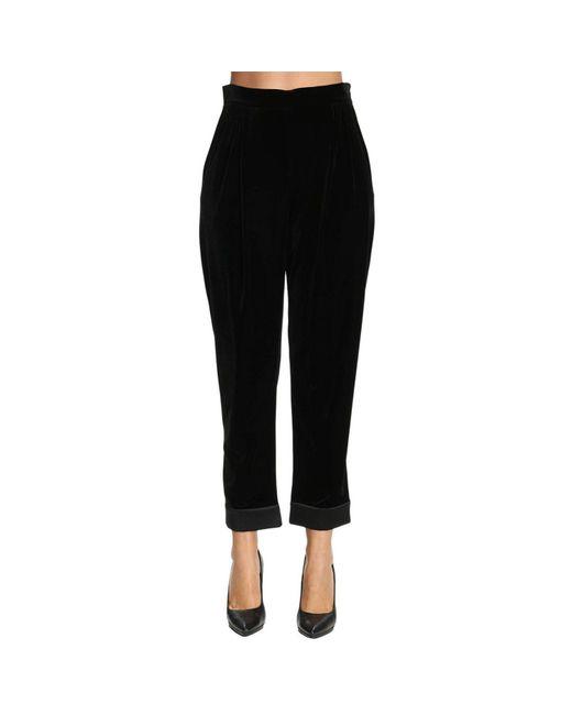 Armani - Black Pants Women - Lyst