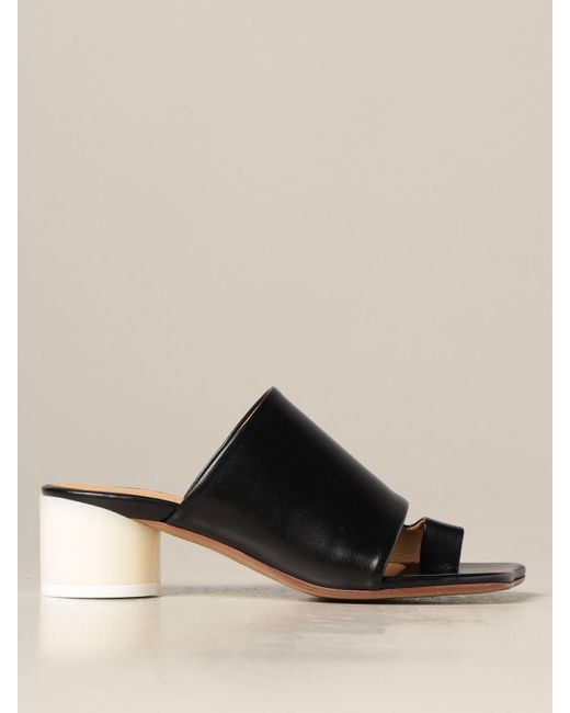 MM6 by Maison Martin Margiela Black Heeled Sandals