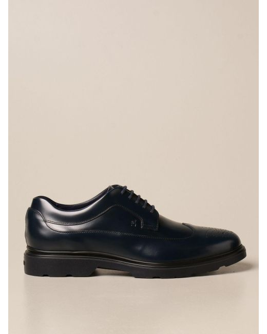 Hogan Black Brogue Shoes for men