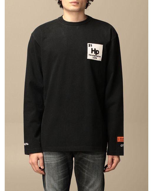 Heron Preston Black T-shirt for men