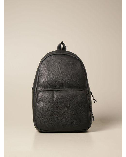 Armani Exchange Black Backpack for men