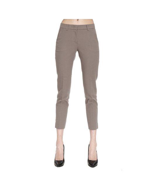 Peserico | Gray Pants Women | Lyst