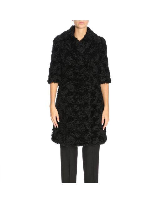 Moschino Couture - Black Coat Women - Lyst