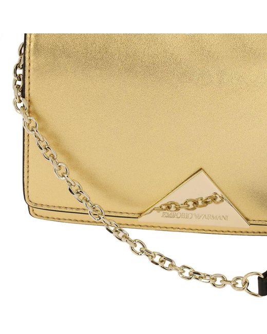 c8942a2196 ... Emporio Armani - Metallic Mini Bag Shoulder Bag Women - Lyst
