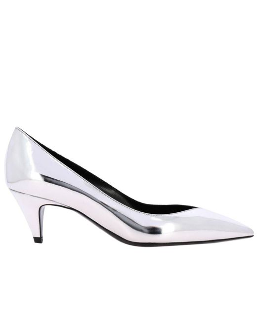 Saint Laurent Metallic Charlotte 55mm Pumps