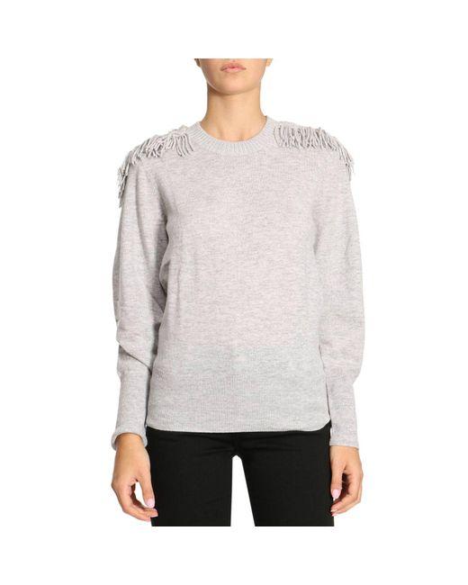 Burberry   Gray Sweater Women   Lyst