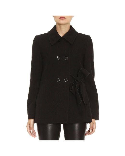 Boutique Moschino | Black Coat Women | Lyst