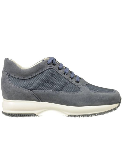 Hogan   Blue Sneakers Interactive Suede Canvas H Bombata for Men   Lyst