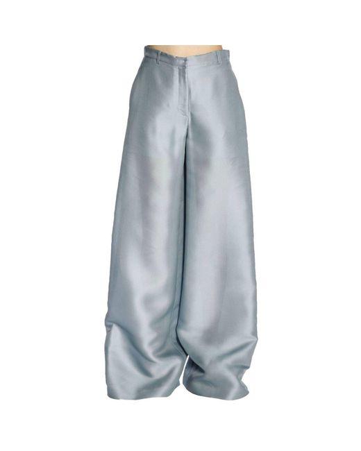 Alberta Ferretti - Blue Pants Women - Lyst