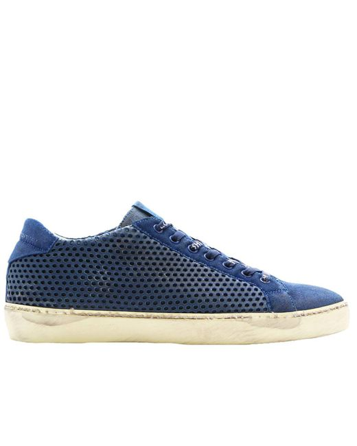 Leather Crown - Blue Sneakers Shoes Men for Men - Lyst