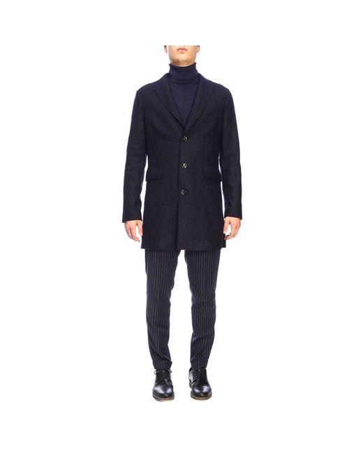 Paolo Pecora Blue Men's Coat for men