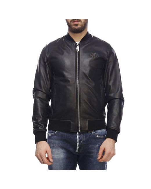 5281243fa9 Philipp Plein Jacket Men in Black for Men - Save 31% - Lyst