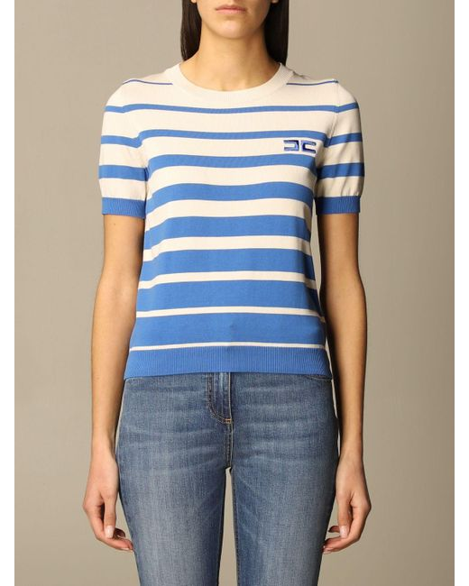 Elisabetta Franchi Blue Sweater