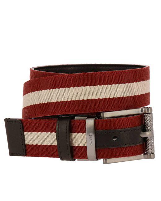 Bally - Red Belt Men for Men - Lyst