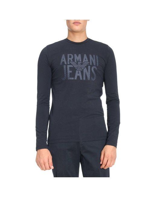 Armani Jeans | Blue T-shirt Men for Men | Lyst