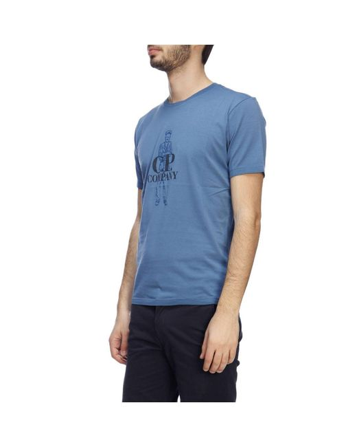 3266b0da4 ... C P Company - Blue T-shirt Men for Men - Lyst ...
