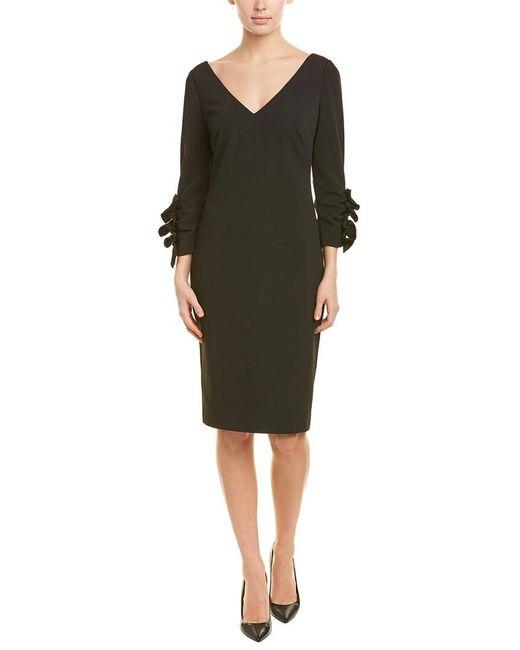 Badgley Mischka Black Sheath Dress