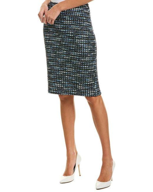 St. John Multicolor Wool-blend Pencil Skirt