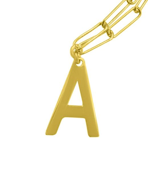 Adornia Multicolor 14k Over Silver Initial Necklace