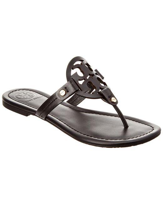 25eda2af369 ... Tory Burch - Black Miller Leather Sandal - Lyst ... best quality 492be  41279 ...