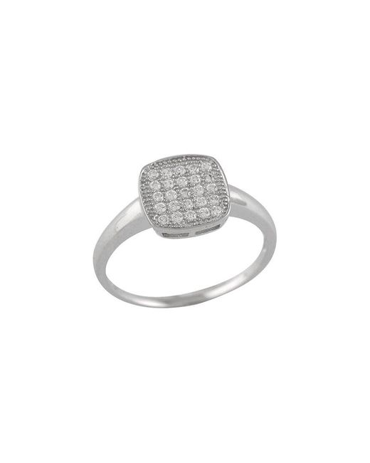 Splendid Metallic Rhodium Over Silver Ring