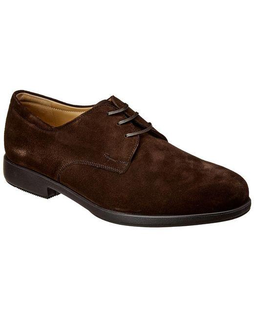 Ferragamo Brown Suede Dress Shoe for men