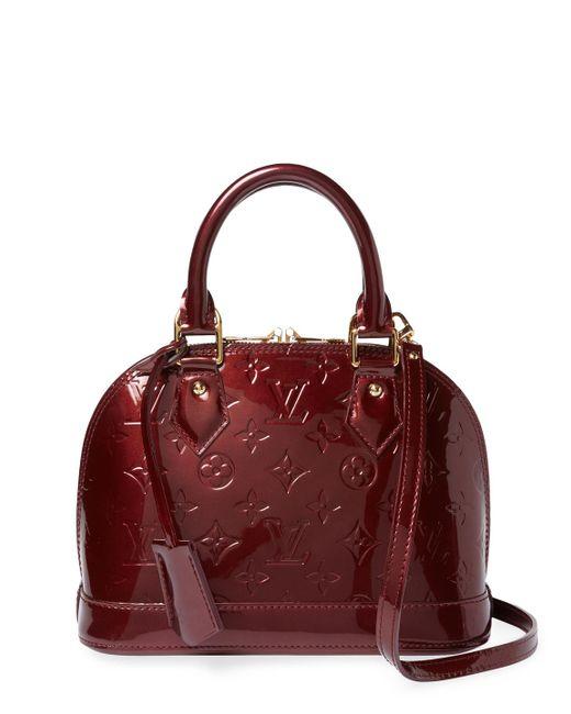 Louis Vuitton - Vintage Purple Vernis Alma Bb Bag - Lyst