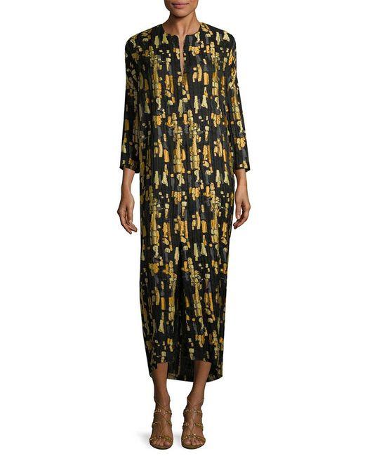 Zero + Maria Cornejo Black Print Shift Dress