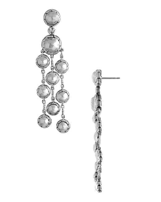 John Hardy - Metallic Palu Silver Chandelier Earrings - Lyst