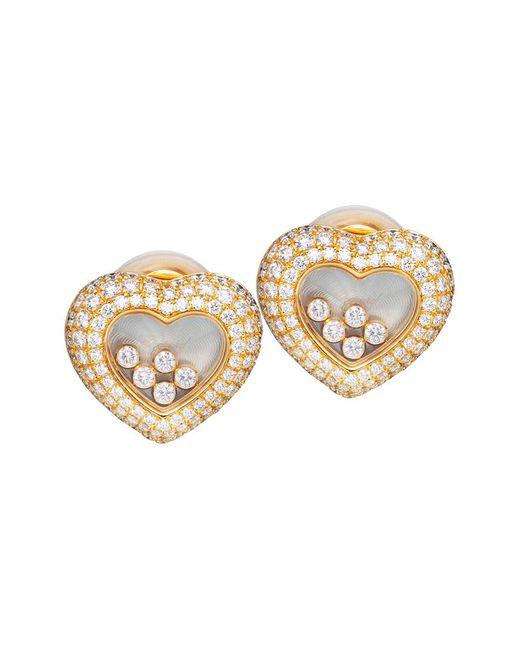 Chopard Metallic 18k 3.71 Ct. Tw. Diamond Earrings