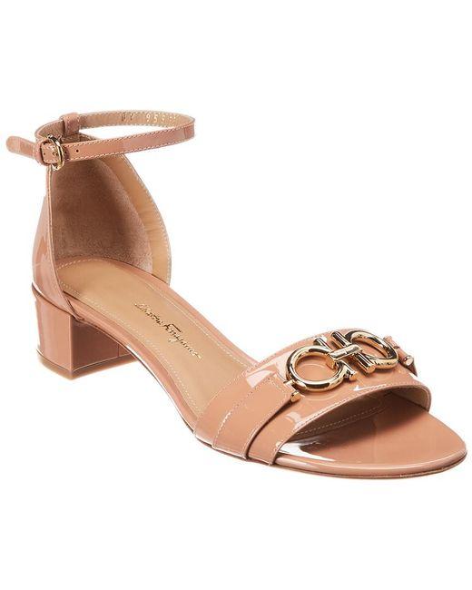 Ferragamo Pink Como Patent Sandal