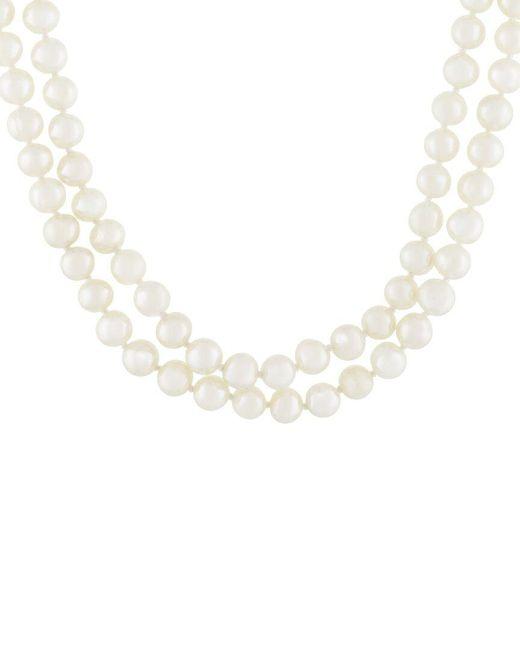Splendid Metallic 7-8mm Pearl Necklace