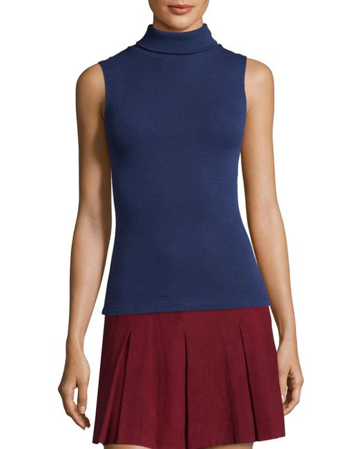 Alice + Olivia - Blue Farley Sleeveless Fitted Top - Lyst