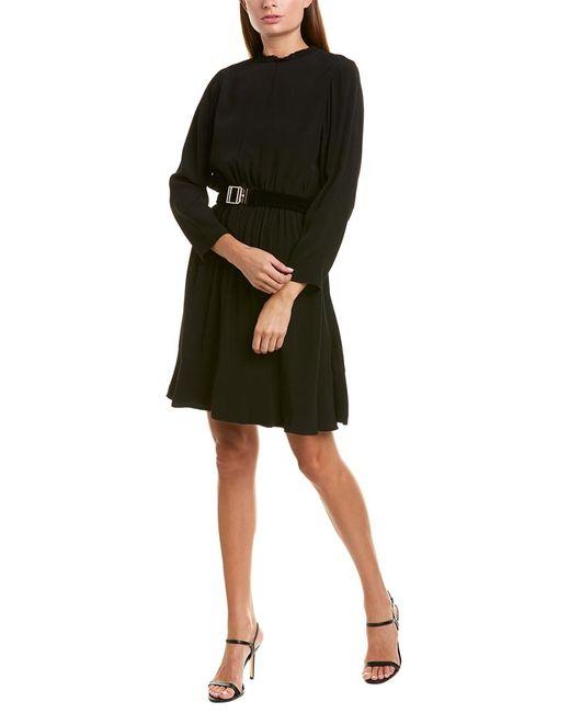 Sandro Black Magenta A-line Dress
