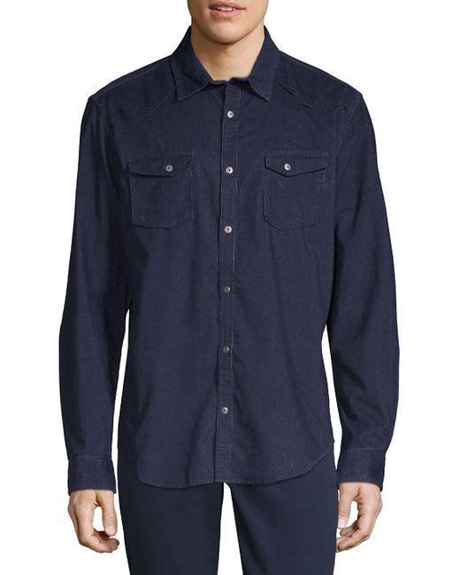 Calvin Klein Jeans - Blue Long-sleeve Denim Button-down Shirt for Men - Lyst