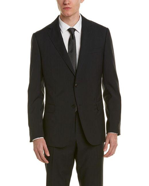 Ermenegildo Zegna Black Z Zegna Wool Suit With Flat Front Pant for men