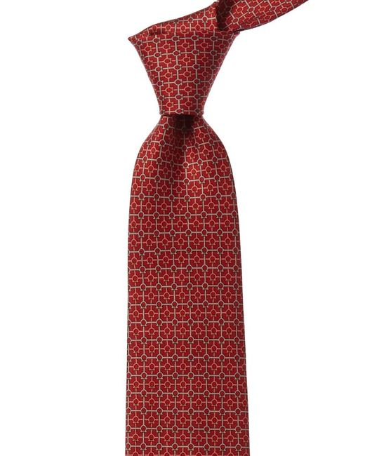 Ferragamo Red Gancini Silk Tie for men
