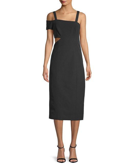 5dc10ea0554d5 Lyst - Jay Godfrey Jay By Marquette Solid Dress in Black - Save ...