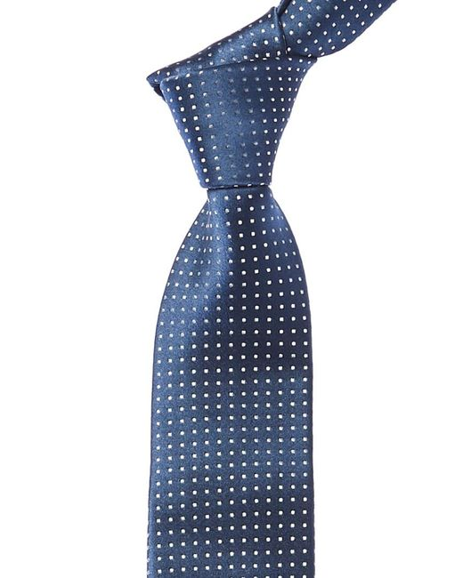 Canali Blue Teal Dots Silk Tie for men