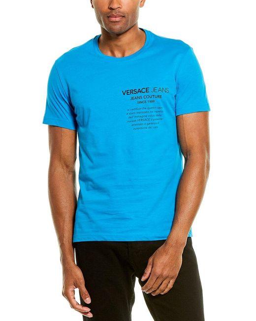 Versace Jeans Blue Slim Fit T-shirt for men