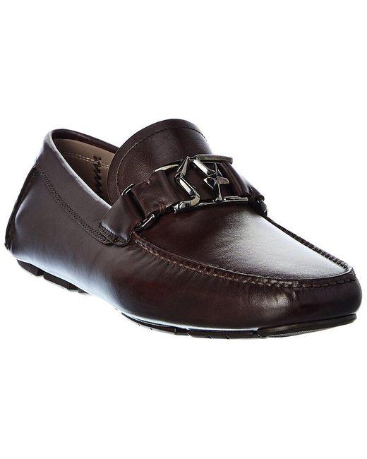 Ferragamo Brown Logo Leather Loafer for men