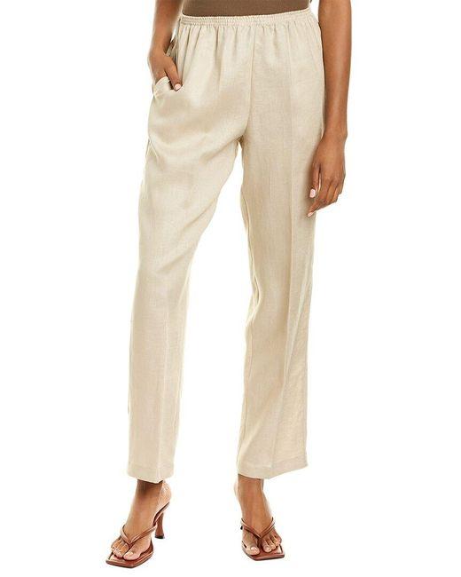 Go> By Go Silk Brown Go>silk Slip-on Linen Pant