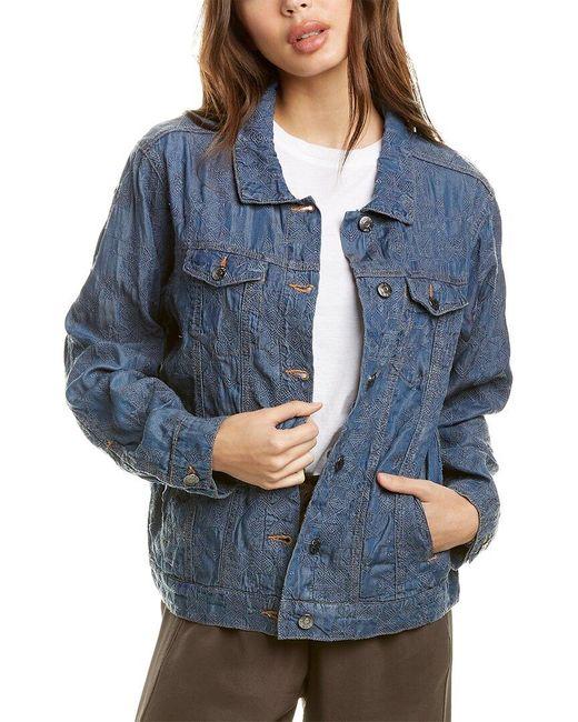 Johnny Was Blue Qiva Jacket