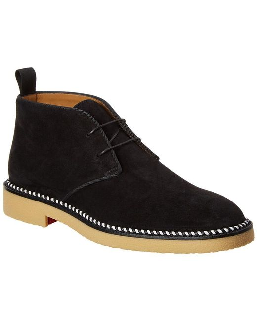 e4d85f0b270 Christian Louboutin Bruno Crepe Suede Boot in Black for Men - Save ...