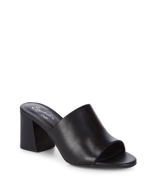 Seychelles - Black Commute Leather Mules - Lyst