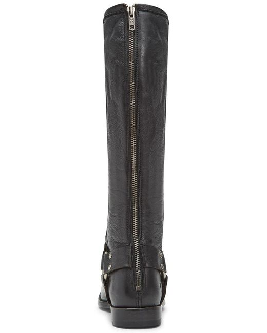 Frye Black Phillip Harness Leather Tall Boot
