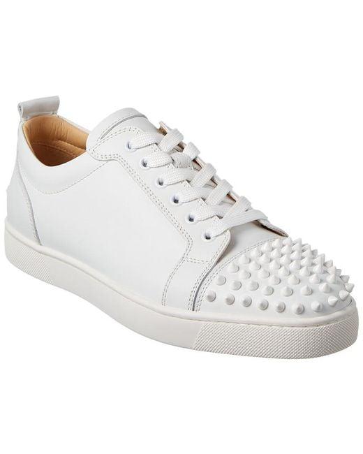 Christian Louboutin White Louis Junior Leather Sneaker for men
