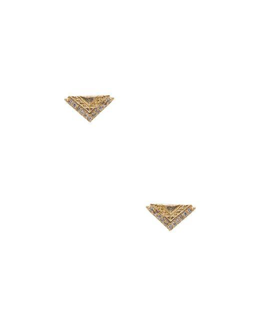 Ettika Jewelry - Metallic Triangle Studded Earrings - Lyst