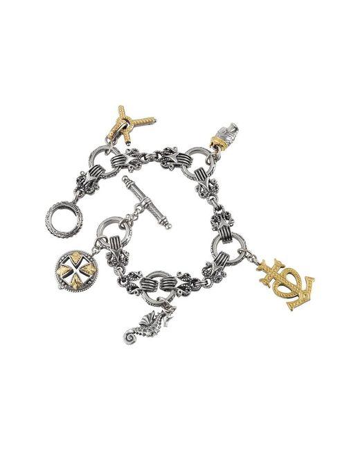 Konstantino Metallic Gaia 18k & Silver Bracelet